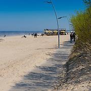 Boardwalk near the beach in Jurmala, Latvia