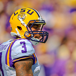 Oct 12, 2013; Baton Rouge, LA, USA; LSU Tigers wide receiver Odell Beckham (3) prior to a game against the Florida Gators at Tiger Stadium. Mandatory Credit: Derick E. Hingle-USA TODAY Sports