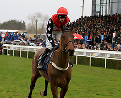 Smooth Stepper ridden by Ciaran Gethings during the Marstons 61 Deep Midlands Grand National race at Uttoxeter Racecourse.
