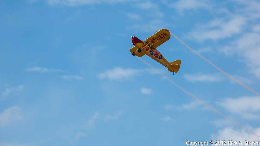 Kent Pietsch flying his routine in his Interstate Cadet at the Airshow of the Cascades.