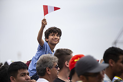 LIMA, Jan. 7, 2019  A boy looks on during the departure ceremony at the 2019 Dakar Rally Race, Lima, Peru, on Jan. 6, 2019. The 41st edition of Dakar Rally Race kicked off in Lima, Peru. (Credit Image: © Xinhua via ZUMA Wire)