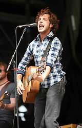 James Morrison on the main stage at T in the Park Saturday 7 July, 2007, at Balado, Fife...