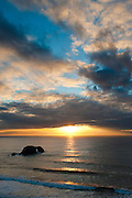 Sunset over the Pacific at Goat Rock, Sonoma Coast State Park, Jenner, California