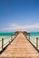 A pier leading to the Bravo Club on Kiwengwa Beach, Zanzibar, Tanzania