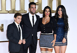Cesc Fabregas and partner Daniella Semaan, Joseph Taktouk (left) and and Maria Taktouk attending the Kingsman: The Golden Circle World Premiere held at Odeon and Cineworld Cinemas, Leicester Square, London. Picture date: Monday 18th September 2017. Photo credit should read: Doug Peters/Empics Entertainment