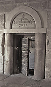 Ancient door of the Church of the Nativity, Bethlehem, Palestine Palestine, Occupied Territories, Israel