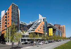 Modern architecture of apartments and offices at Daimler Chrysler Quartier at  Potsdamer Platz in Berlin Germany