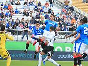 01/13/2018. Orlando, USA.  <br /> <br /> RANGERS FC v CORINTHIANS  2018 Florida Cup.  <br /> <br /> James Tavenier of Rangers header towards goal during THE 2018 FLORIDA CUP match between RANGERS FC and CORINTHIANS.<br /> <br /> At  Spectrum Stadium, Orlando.<br /> Pic: Mark Davison /PLPA