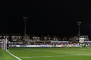 Play suspended as two floodlights blow out with minutes left on the clock during the Sky Bet League 2 play-off 2nd leg match between Accrington Stanley and AFC Wimbledon at the Fraser Eagle Stadium, Accrington, England on 18 May 2016. Photo by Stuart Butcher.
