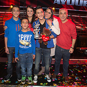 NLD/Hilversum/20140221 - Finale The Voice Kids 2014, Ayoub Haach met familie
