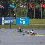 Hannah Osborne New Zealand Womens Single Scull<br /> <br /> Semi-Finals races at the World Championships, Sarasota, Florida, USA Friday 29 September 2017. Copyright photo © Steve McArthur / Rowing NZ