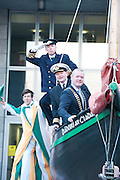 Galway launches 200 Gatherings ! Come home to Irelands Cultural Heart  with help of Galway Sea Festival Captain Séamus O hAodha, Galway Harbour Master Captain Brian Sheridan President Galway Chamber of Commerce Declan Dooley  at Aras An Contae. Picture Andrew Downes.