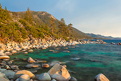 """""""Boulders at Lake Tahoe 47"""" - These boulders were photographed just before sunset near Hidden Beach, Lake Tahoe."""