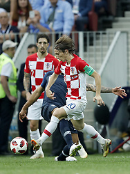 (L-R) Olivier Giroud of France, Luka Modric of Croatia during the 2018 FIFA World Cup Russia Final match between France and Croatia at the Luzhniki Stadium on July 15, 2018 in Moscow, Russia