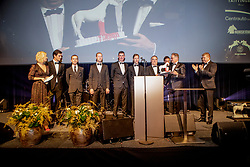 Team of the Year,  Stefan Conter, Nicola Philippaerts, Wilm Vermeir, Peter Weinberg, Niels Bruynseels, Jos Verlooy, Pieter Devos, Frank Kemperman, Stefaan Lammens, Ophélie Fontana<br /> Equigala - Dockx Dome - Brussel 2019<br /> © Hippo Foto - Dirk Caremans<br /> 22/01/2019