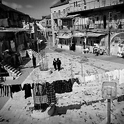 The Mea Shearim neighborhood in Jerusalem is the latest example of ghettos that existed from Jewish communities in Eastern Europe before the Holocaust.