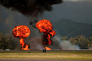 A bombing exercise during a Blue Angel performance at Marine Corp Base Hawaii.