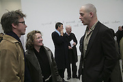 Rachel Whiteread and Dinos Chapman, Aperiatur Terra, Private View of work by  Anselm Kiefer<br />White Cube, Mason's Yard. - Afterwards dinner at the  NCP Brewer Street (Top<br />Floor)  London, 25 January 2007. -DO NOT ARCHIVE-© Copyright Photograph by Dafydd Jones. 248 Clapham Rd. London SW9 0PZ. Tel 0207 820 0771. www.dafjones.com.