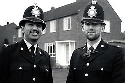 Police officers, Derby, UK 1990