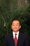 Wen Jiabao, China's Premier is introduced as a member of the Chinese Communist Party Politburo Standing Committee, in the Greal Hall of the People in Beijing,    China, on Monday, Oct. 22, 2007.    China's ruling Communist Party named four new members to its top executive body today, making them potential successors to President Hu Jintao, who was elected to a second five-year term as party chief and head of the military.