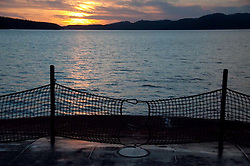 Sun Set Aboard the MV Elwha Heading Toward Friday Harbor, San Juan Islands, Washington, US