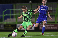 Forest Green Rovers Dan Bradshaw(38) shoots at goal scores a goal 3-0 during the FA Youth Cup match between Forest Green Rovers and Helston Athletic at the New Lawn, Forest Green, United Kingdom on 29 October 2019.