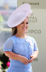 Ellie Simmonds before presenting the trophies to the winners of the Queen Mary Stakes during day two of Royal Ascot at Ascot Racecourse.
