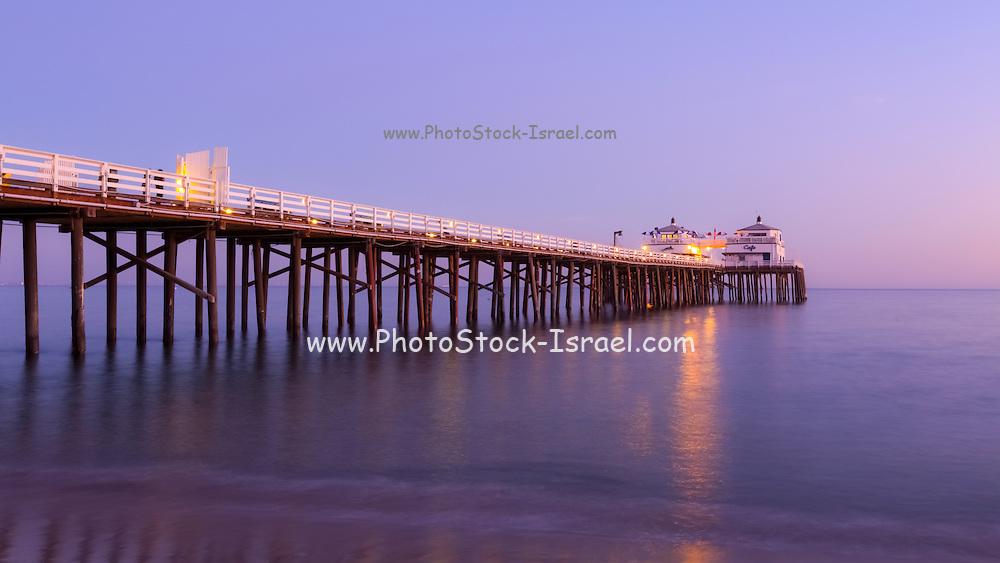 Sunset at Malibu Pier, California USA