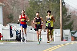 2013 Boston Marathon: Robin Watson, Canada, Jason   Hartmann, USA, Fernando Cabada, USA lead race early