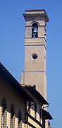 Architectural street detail from Florence, Italy. A Bell tower.