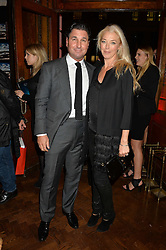 TAMARA BECKWITH and GIORGIO VERONI at a party to celebrate the launch of the Maison Assouline Flagship Store at 196a Piccadilly, London on 28th October 2014.  During the evening Valentino signed copies of his new book - At The Emperor's Table.
