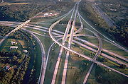 Harrisburg, PA, Interstate 81 and Rt 322 Intersection, Aerial