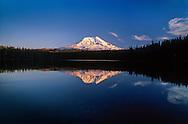 Mt. Adams and Takhlakh Lake at sunset, Mt. Adams Wilderness, Washington