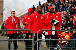Jay Emmanuel-Thomas of Bristol City takes his place on the bench - Photo mandatory by-line: Rogan Thomson/JMP - 07966 386802 - 20/12/2014 - SPORT - FOOTBALL - Crewe, England - Alexandra Stadium - Crewe Alexandra v Bristol City - Sky Bet League 1.