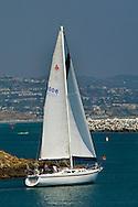 Sailboat in Dana Point Harbor, Dana Point, Orange County, California