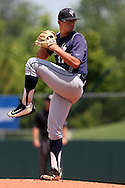 03 June 2016: Nova Southeastern's Alex Mateo. The Nova Southeastern University Sharks played the Millersville University Marauders in Game 13 of the 2016 NCAA Division II College World Series  at Coleman Field at the USA Baseball National Training Complex in Cary, North Carolina. Nova Southeastern won the first game of the best of three Championship Series 2-1.
