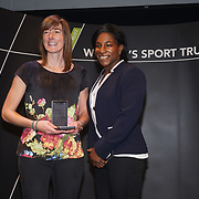 London,England,UK. 11th May 2017. National Governing Body of the Year - Presented by Maggie Alphonsi at the Women's Sport Trust Awards - #BeAGameChanger at The Troxy,london, UK. by See Li