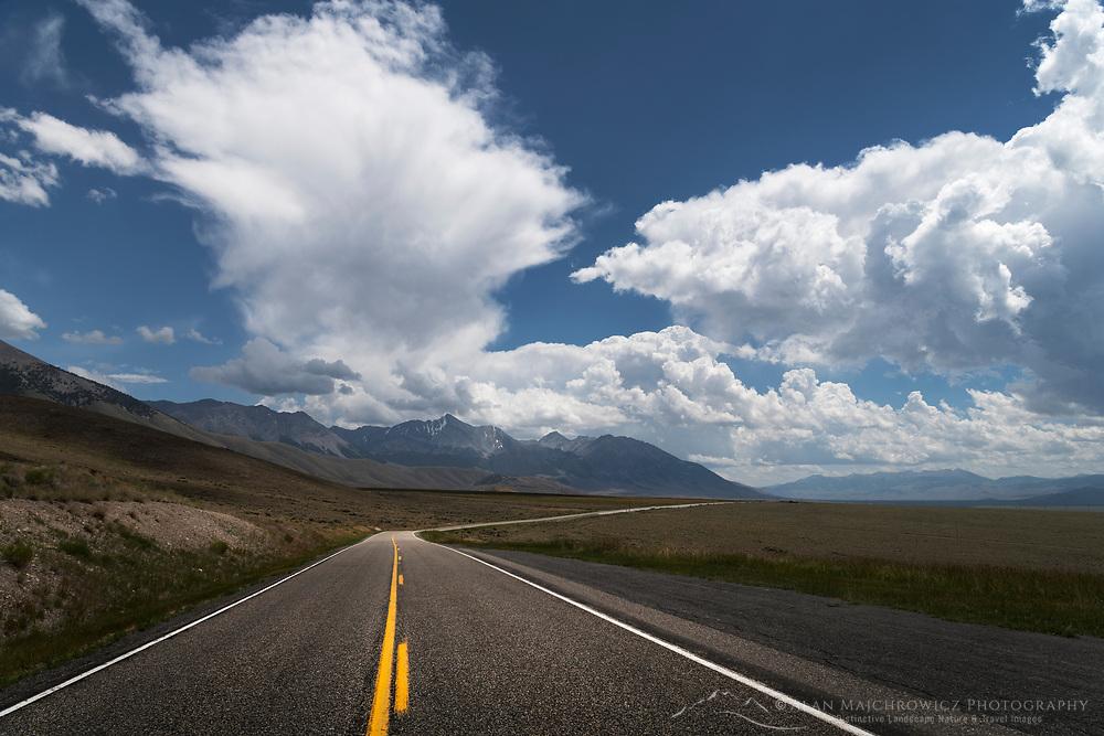 U.S. Highway 93 Lost River Range Idaho. Borah Peak is in the distance