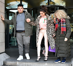 February 6, 2018 - London, London, United Kingdom - Katie Price in Parliament. Harvey Price, Katie Price, Amy Price at Portcullis House. Katie Price, Loose Women panellist gives evidence in Parliament at Parliamentary Select Committee meeting on how online abuse has affected her family, after an online petition she started gained over 200k public signatures, at House of Commons, London. (Credit Image: © Nils Jorgensen/i-Images via ZUMA Press)