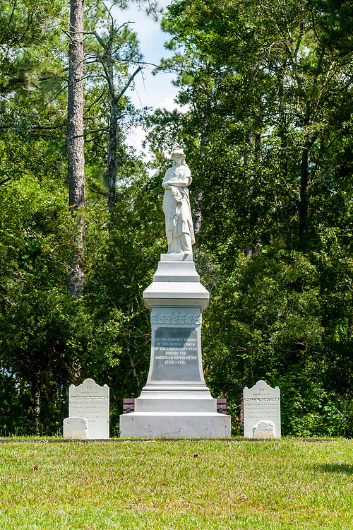 A monument along the History Trail at Moores Creek National Battlefield in Currie, North Carolina on Friday, August 13, 2021. Copyright 2021 Jason Barnette