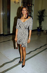 """DIVIA LALVANI at a party to celebrate the publication of Bruce Oldfield's autobiography """"Rootless"""" held in aid of Crimestoppers at Claridge's, Brook Street, London W1 on 22nd September 2004.<br /><br />NON EXCLUSIVE - WORLD RIGHTS"""