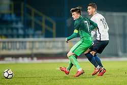 Martin Kramaric of Slovenia during football match between National teams of Slovenia and France in UEFA European Under-21 Championship Qualification, on November 13, 2017 in Domzale, Slovenia. Photo by Vid Ponikvar / Sportida
