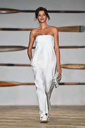 Models on the catwalk during the Daks London Fashion Week SS18 show held at the Langham Hotel, London. Picture date: Friday September 16th, 2017. Photo credit should read: Matt Crossick/ EMPICS Entertainment.