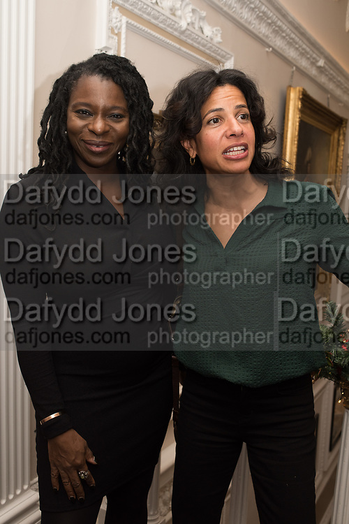 VALERIE BRANDES, ISABELLE DU PUY, Literary Review  40th anniversary party and Bad Sex Awards,  In & Out Club, 4 St James's Square. London. 2 December 2019