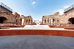 26.05.2017, Taormina, ITA, 43. G7 Gipfel in Taormina, im Bild Übersicht Teatro Greco // Overview Teatro Greco during the 43rd G7 summit in Taormina, Italy on 2017/05/26. EXPA Pictures © 2017, PhotoCredit: EXPA/ Johann Groder