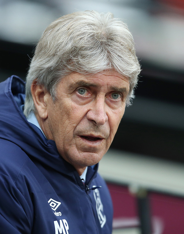 West Ham United manager Manuel Pellegrini <br /> <br /> Photographer Rob Newell/CameraSport<br /> <br /> The Premier League - Saturday 26th October 2019 - West Ham United v Sheffield United - London Stadium - London<br /> <br /> World Copyright © 2019 CameraSport. All rights reserved. 43 Linden Ave. Countesthorpe. Leicester. England. LE8 5PG - Tel: +44 (0) 116 277 4147 - admin@camerasport.com - www.camerasport.com