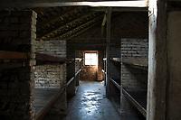 09 APR 2012, KRAKOW/POLAND:<br /> Blick in eine Steinbarake im Sektor I des Lagers, Staatliches polnisches Museum / Gedenkstaette des ehem. Konzentrationslager Ausschitz-Birkenau<br /> IMAGE: 20120409-01-030<br /> KEYWORDS: Krakau, KZ, Vernichtungslagers Auschwitz II–Birkenau, Polen
