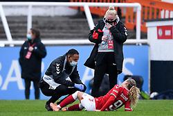 Ebony Salmon of Bristol City Women after the final whistle of the match - Mandatory by-line: Ryan Hiscott/JMP - 18/10/2020 - FOOTBALL - Twerton Park - Bath, England - Bristol City Women v Birmingham City Women - Barclays FA Women's Super League