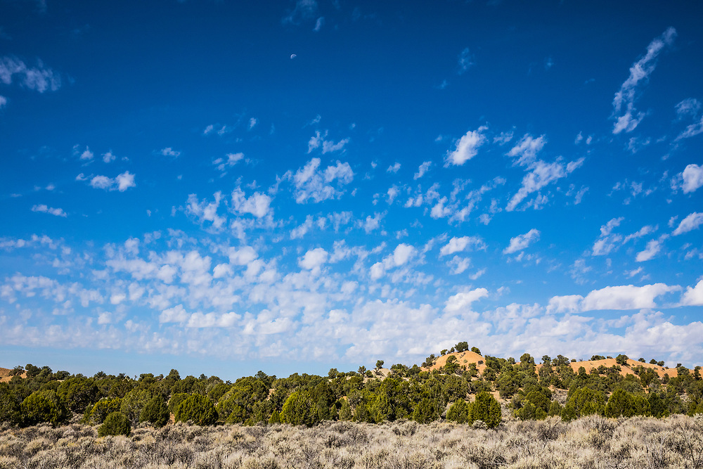 Popcorn clouds above Grand Staircase Escalante National Monument, Utah, USA.