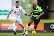 Trevor Horsley XI Yan Klukowski and Forest Green Legends Danny Bailey during the Trevor Horsley Memorial Match held at the New Lawn, Forest Green, United Kingdom on 19 May 2019.